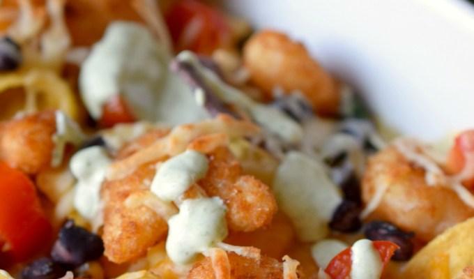 Popcorn Shrimp Nachos