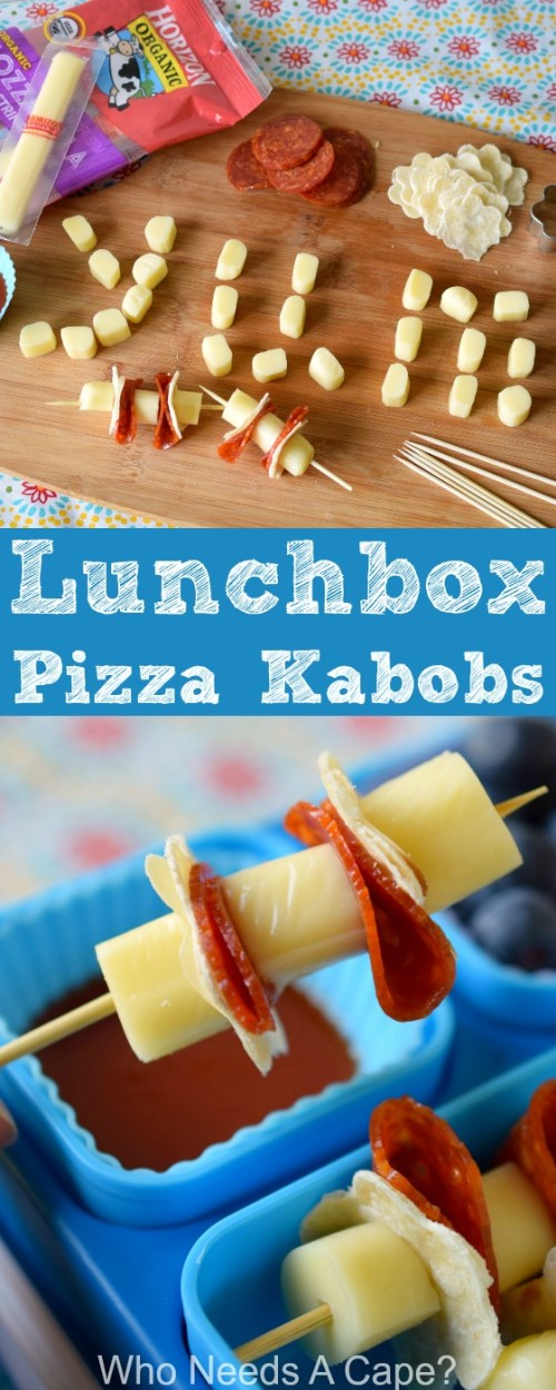 Are your kids tiring of the same lunchbox items? Mix things up with Lunchbox Pizza Kabobs, a fun way to eat lunch at school.
