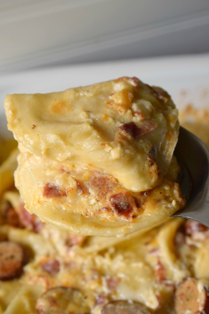 Whether you serve Loaded Slow Cooker Pierogies for tailgating or holiday parties they will be a hit. Creamy, comforting & deliciously easy in your crockpot.