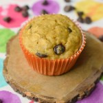 Banana Applesauce Muffins with Chocolate Chips