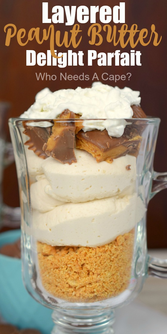 Layered Peanut Butter Delight Parfait is a no-bake dessert that your sweet tooth will love. Creamy and loaded with your favorite flavors, it is delish!