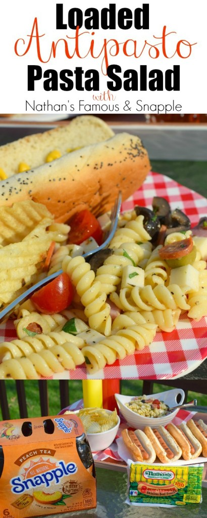 Loaded Antipasto Pasta Salad is the perfect side dish to serve when grilling at your next BBQ. Great for potlucks & picnics, and easy to make too.
