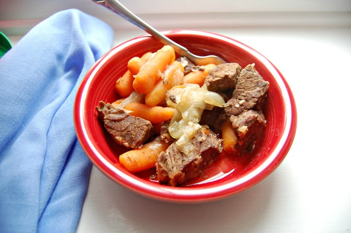 Pressure Cooker Beef & Carrots | Who Needs A Cape?