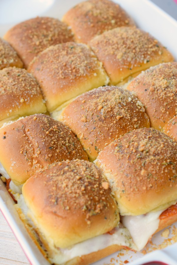 We make Easy Pepperoni Pizza Sliders for dinner all the time, even when we're camping. They make a great meal the family will enjoy!