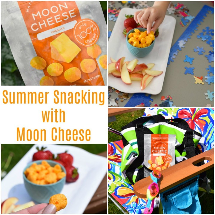 Summer snacking made easy with Moon Cheese, that's right Moon Cheese! Made with 100% cheese it is a great summer snack that adds protein into the day.
