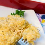 Cheesy Chicken, Artichoke & Rice Casserole