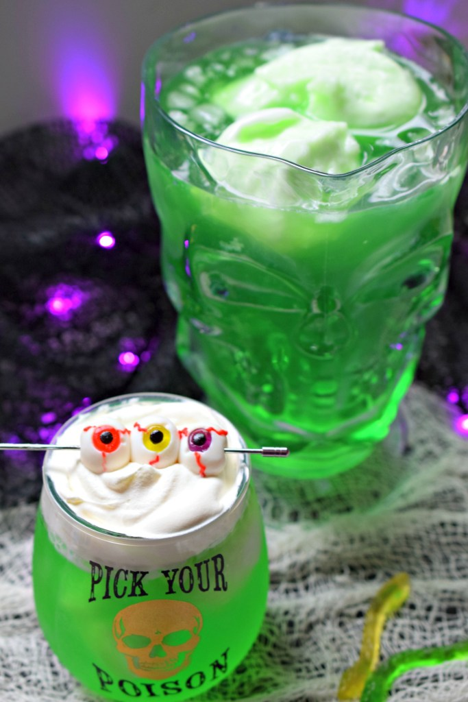 Looking for a fun non-alcoholic drink for your Halloween Party? Boogeyman Brew is a fun, brightly colored beverage perfect for kids!
