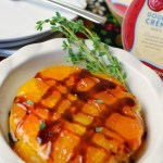 Baked Peach Balsamic Brie