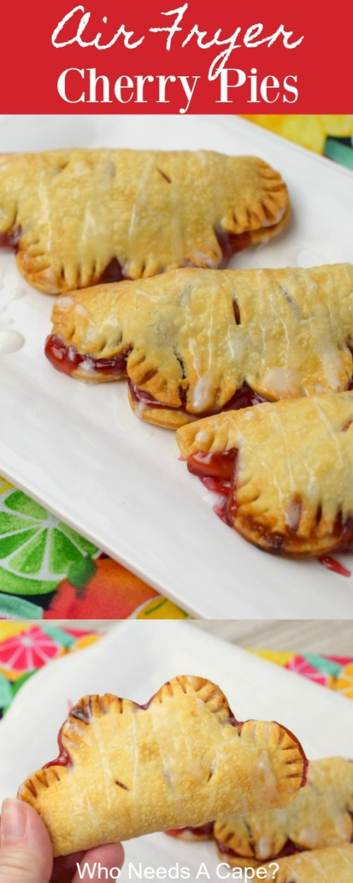 Dessert from your Air Fryer? You'll love these easy to make Air Fryer Cherry Pies. A simple to make dessert your family will love.