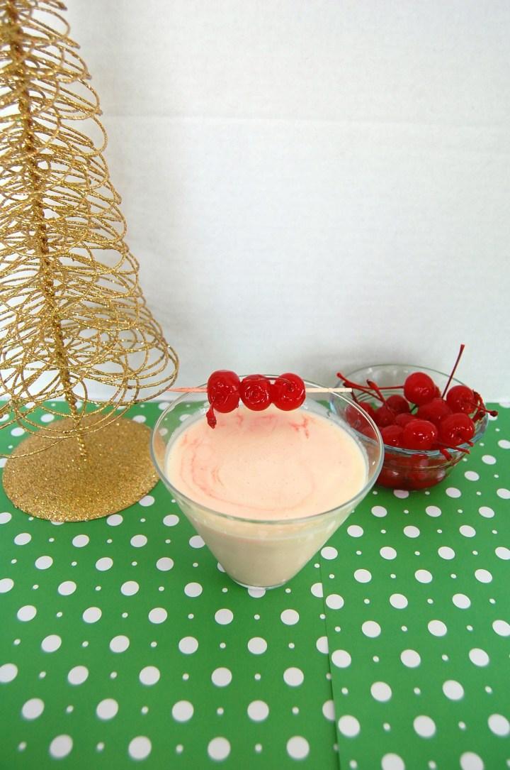 Cherry EggNog Martini