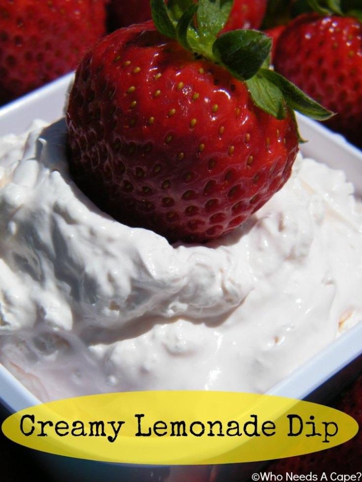Creamy Lemonade Dip