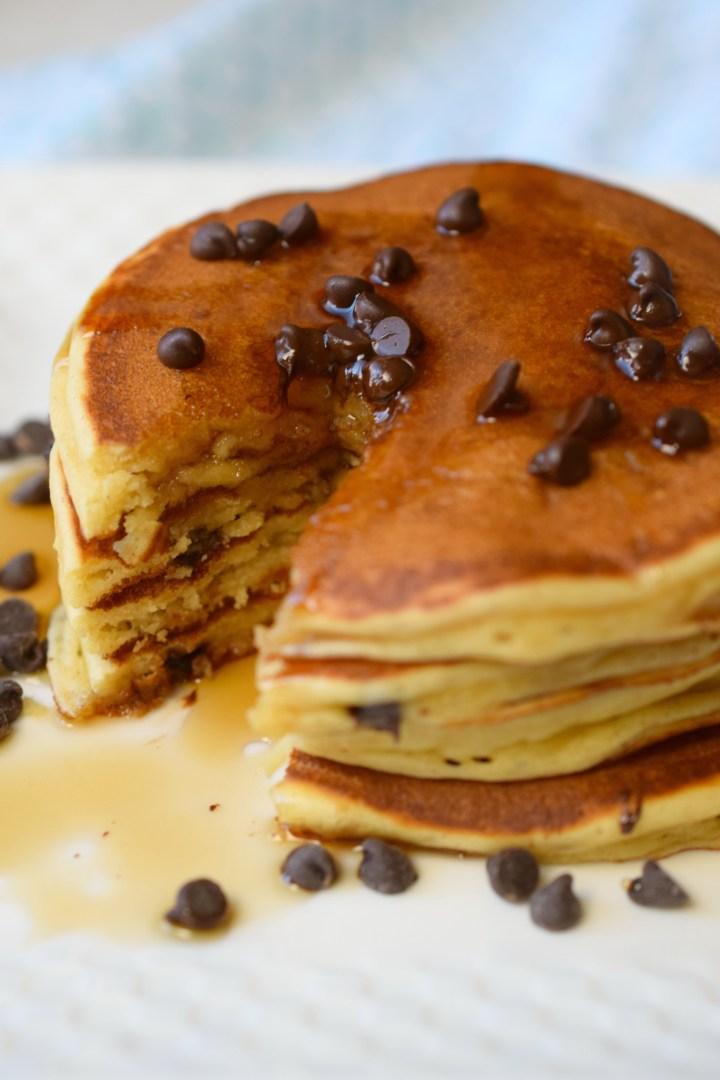 Peanut Butter Chocolate Chip Pancakes