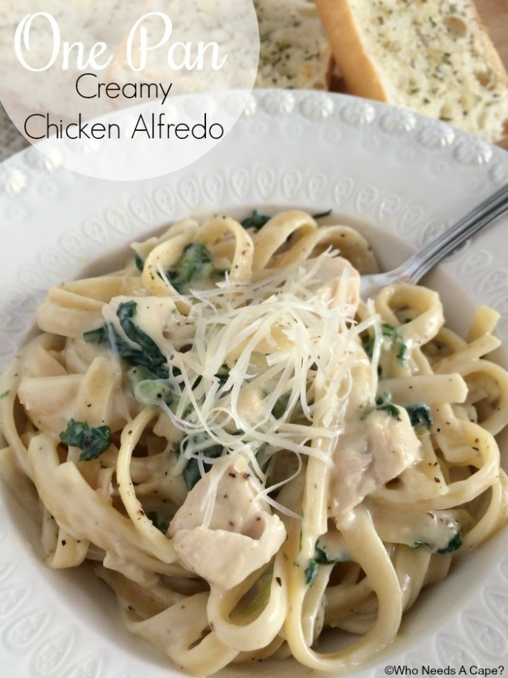 One Pan Creamy Chicken Alfredo