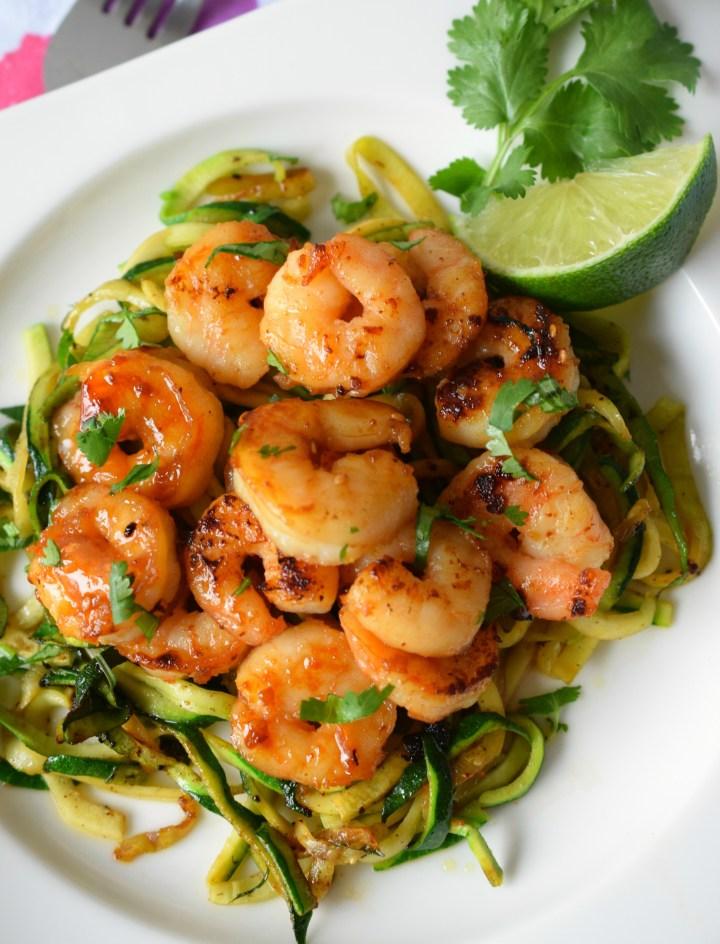 Sesame Cilantro Lime Shrimp