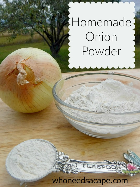 Homemade Onion Powder