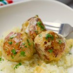 Cajun Chicken Meatballs in Cajun Cream Sauce
