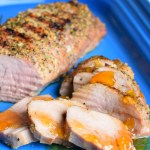 Grilled Pork Tenderloin with Peach Balsamic Sauce