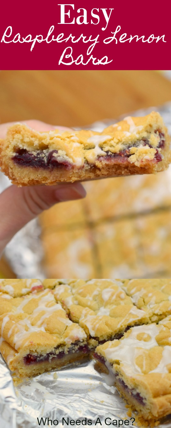 Easy Raspberry Lemon Bars are a simple dessert great for lunches, potlucks or BBQ's. With just a few basic ingredients you'll have a great baked treat.