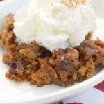 Slow Cooker Apple Cranberry Spice Cake #AppleWeek