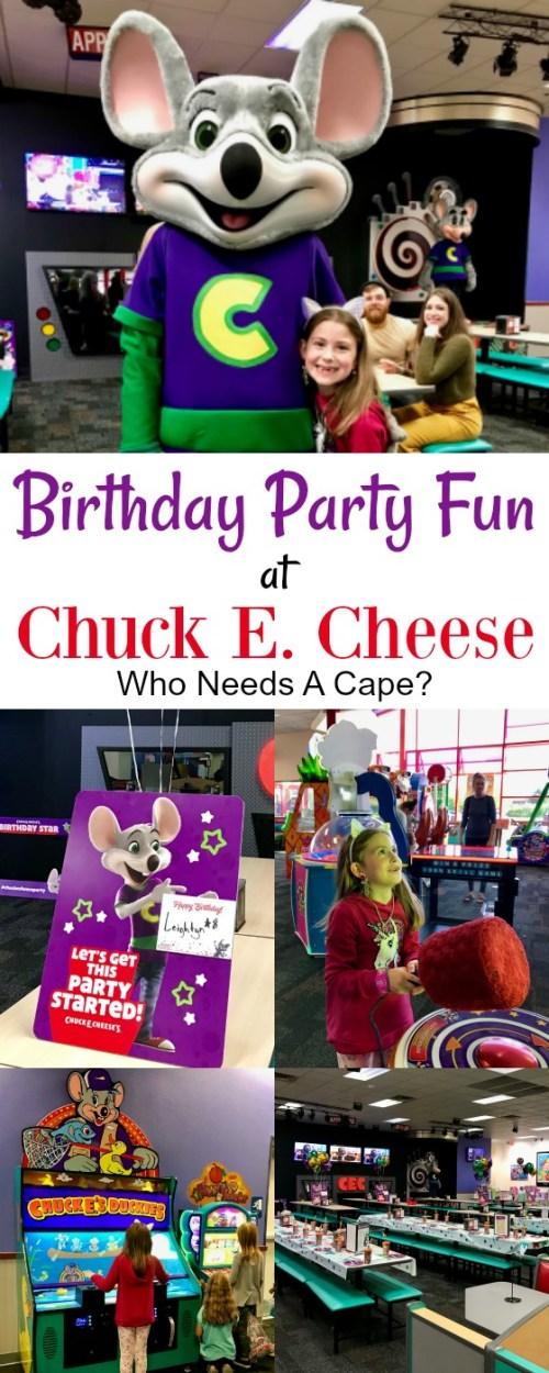 Birthday Party Fun at Chuck E. Cheese | Who Needs A Cape?