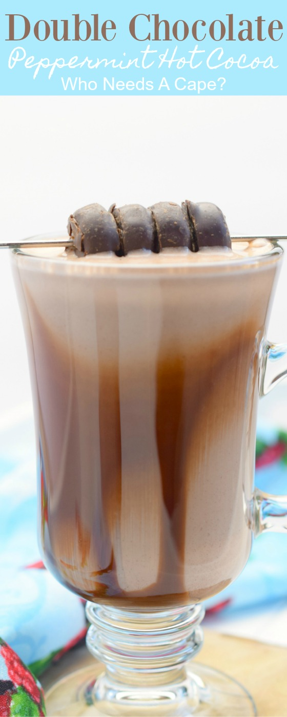 When cooler temperatures arrive, make a delicious mug of Double Chocolate Peppermint Hot Cocoa. Great for the holidays, you'll love this warm treat.