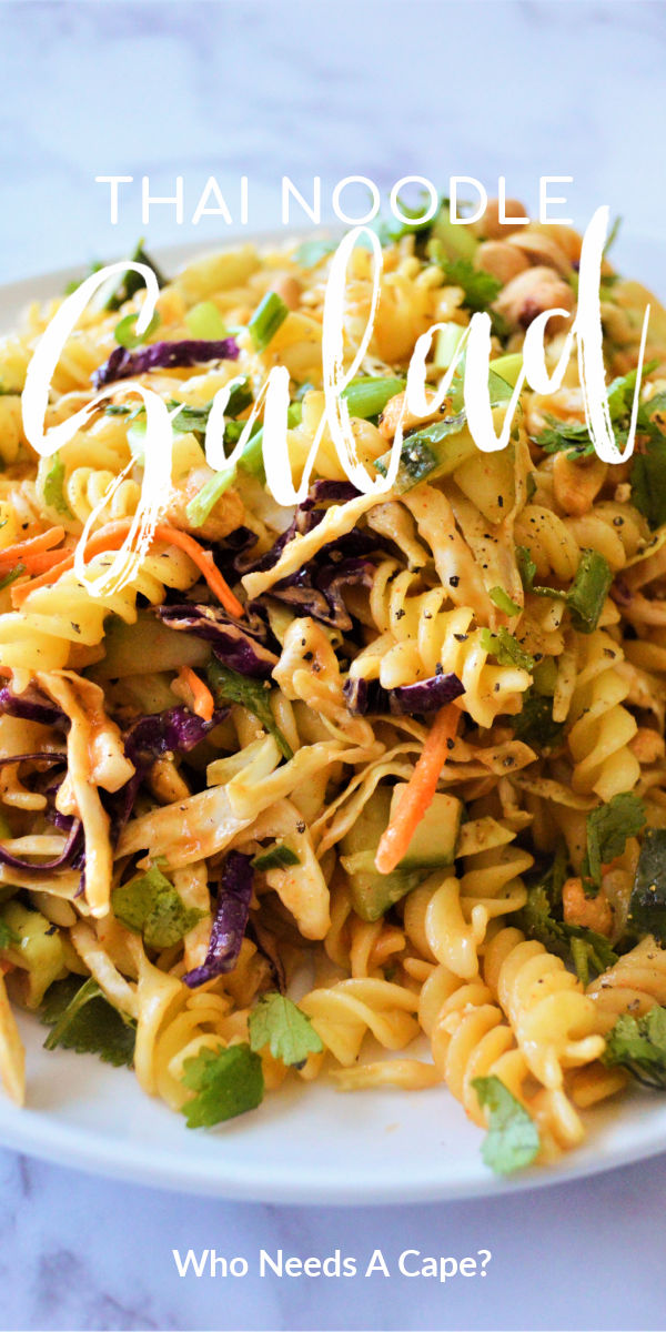 serving of thai noodle salad on white plate