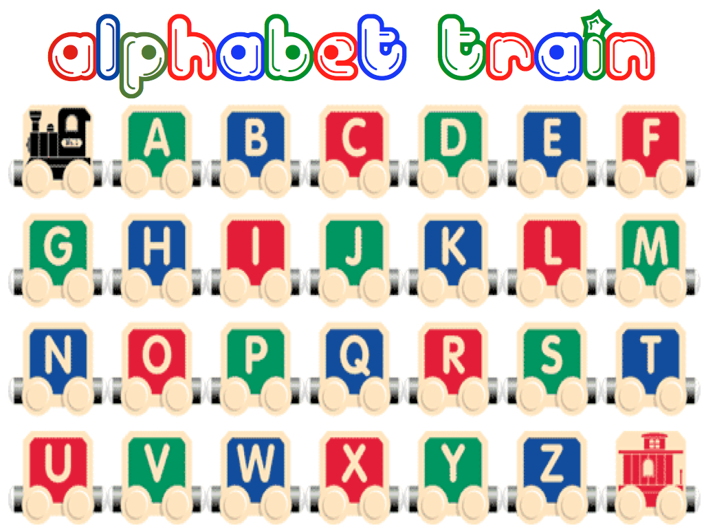 Alphabet Train Foam Letter Activity