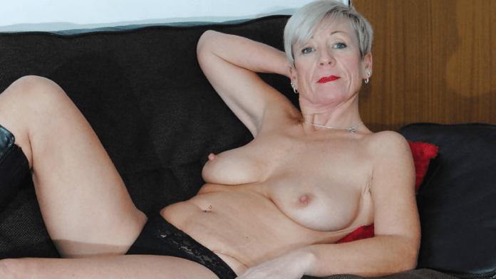 Shazzy B blonde granny porn star
