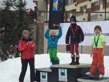 Molly so deserved 2nd place with her cracking run down the moguls.