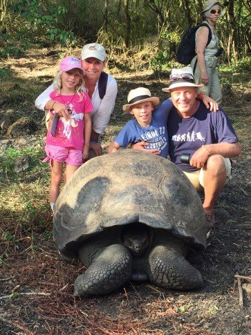 The oldest tortoise on the ranch was enormous, and totally unafraid