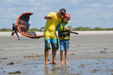 Max and Paulo, the brain, heart and soul of kiteiscool in Jericoacoara.