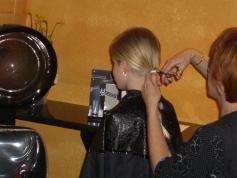 Corinne gets her locks cut
