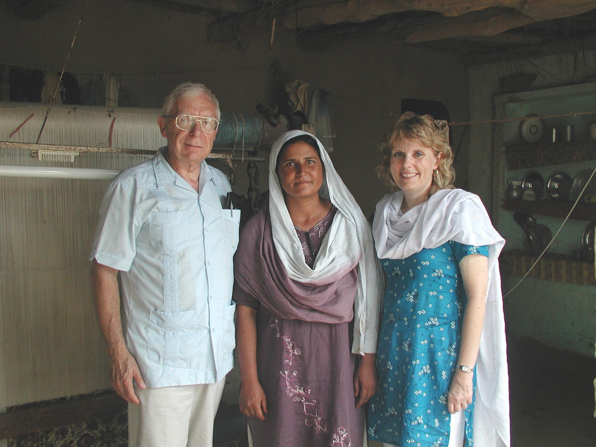 In Pakistan, in August 2004, we met Khalida who ties beautiful oriental rugs.