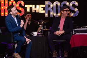 """""""Who's the Ross?"""" live El Cid Silver Lake LA Los Angeles Hollywood comedy comedian host best late-night talk show Aaron Ross humor funny photo pic Rosscars awards Office Simpsons legend interview"""