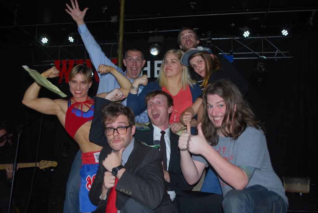 Who's the Ross? Aaron Ross comedian comedy Portland PDX late-night talk show JoAnn Schinderle Stag PDX Tera Zarra strongwoman Laura Palmer's Death Parade
