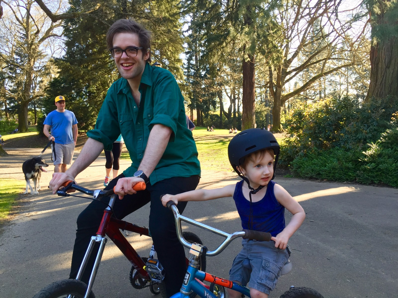 "Training Wheels bike pic PDX Portland bicycle comedy comedian talk show web series Aaron Ross ""Who's the Ross?"""