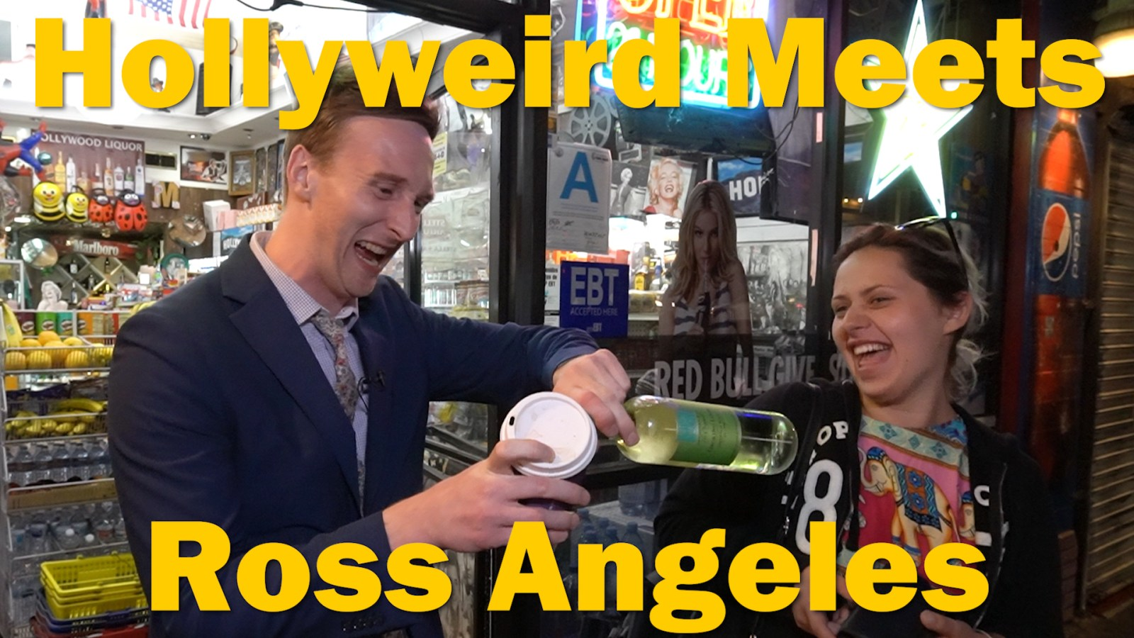 """Who's the Ross?"" Los Angeles Aaron Ross talk show host late-night ""man on the street"" Hollywood Blvd ""Walk of Fame"" comedian comedy funny humor LA"