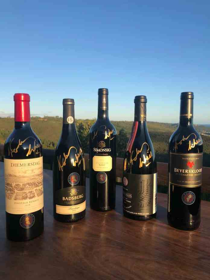 Kobus Wiese signed wine (Supplied)