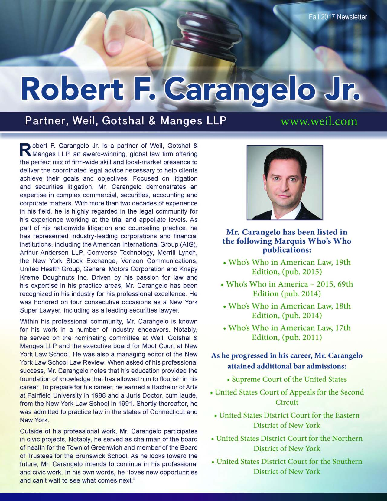 Carangelo, Robert 3690543_36114258 Newsletter