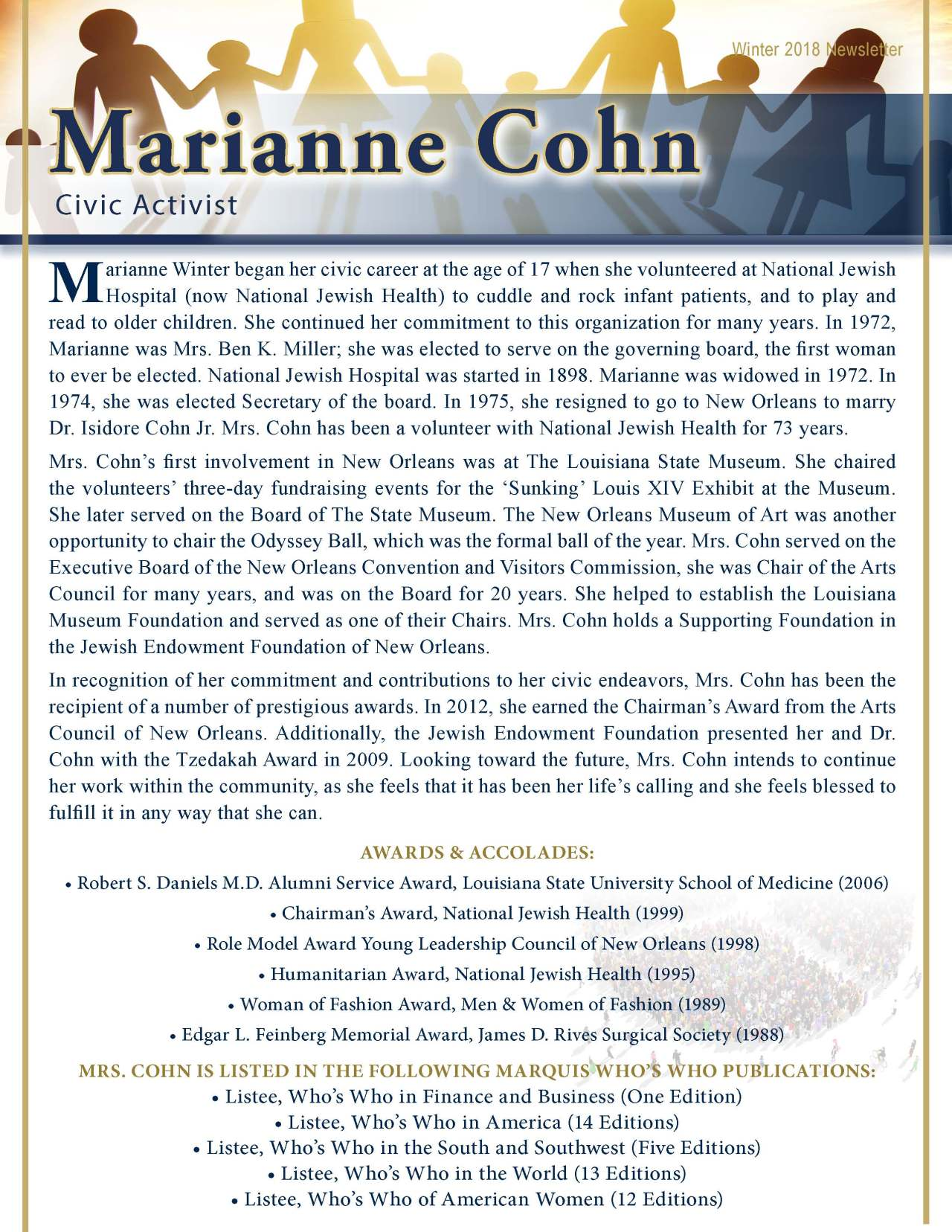 Cohn, Marianne 2189080_17194317 Newsletter REVISED
