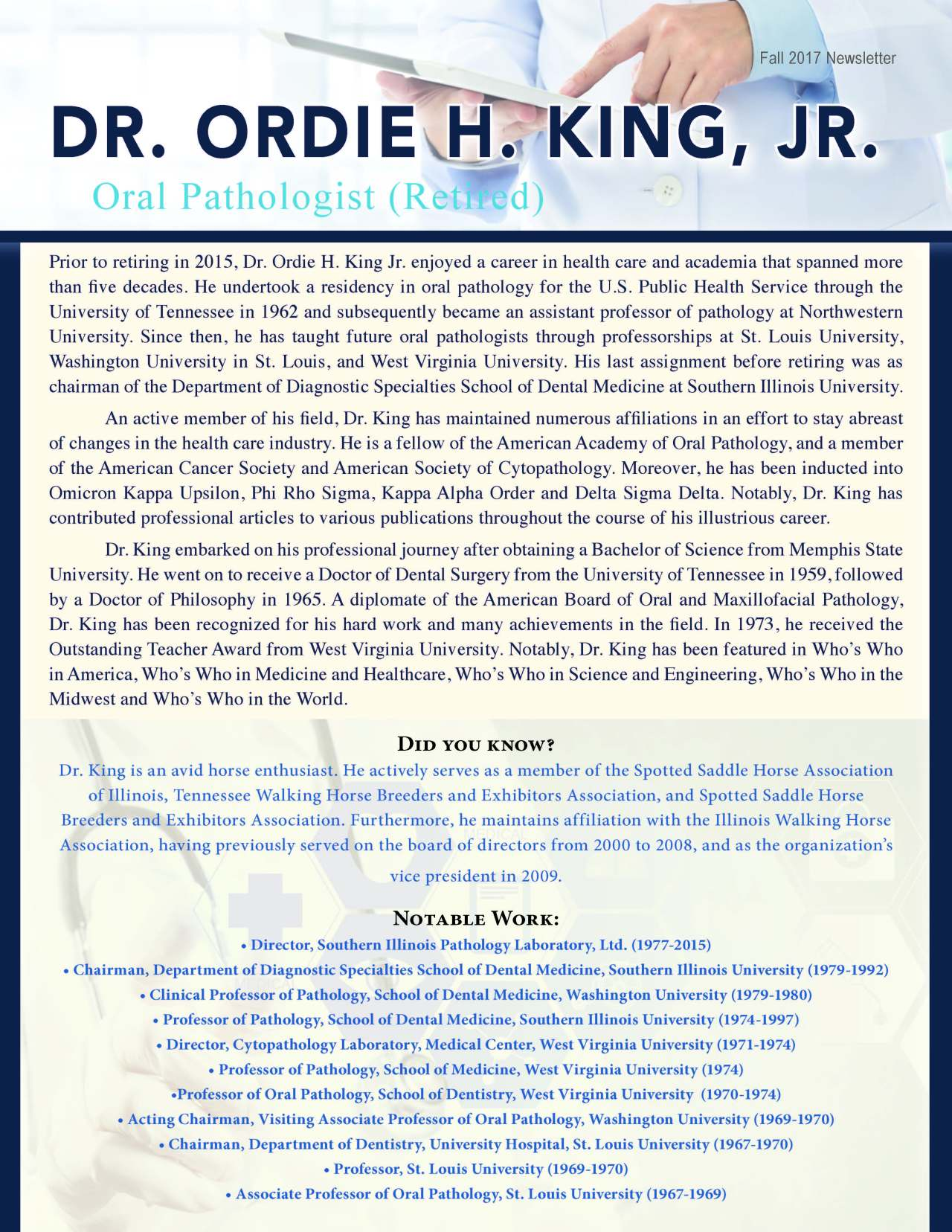 King, Ordie 2188099_18229005 Newsletter