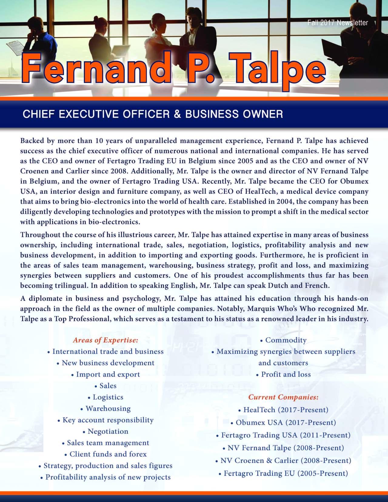 Talpe, Fernand 3677083_4003677083 Newsletter