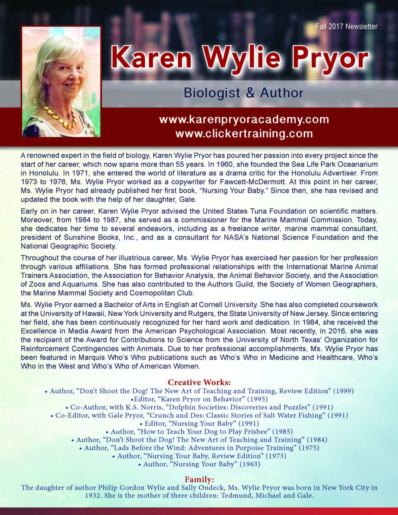 Wylie Pryor, Karen 3671926_3445200 Newsletter