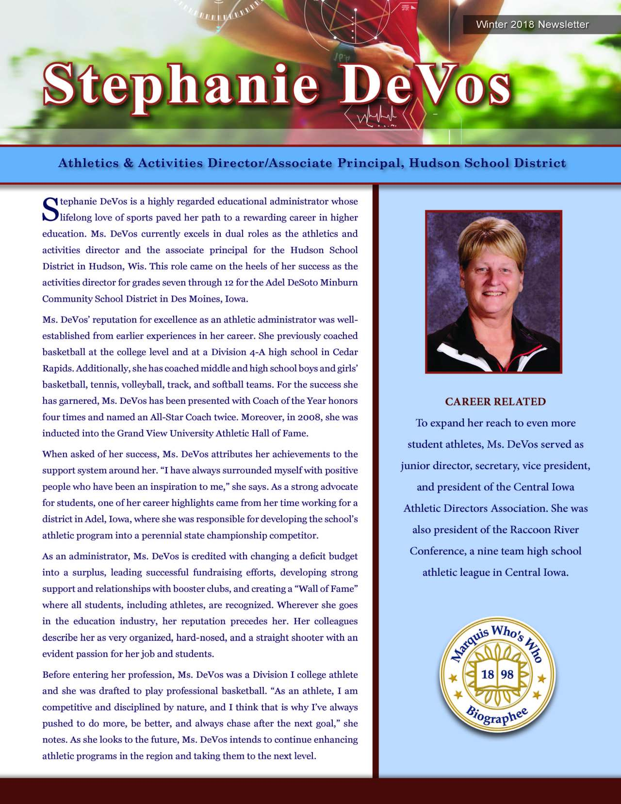 DeVos, Stephanie 3691075_4003691075 Newsletter