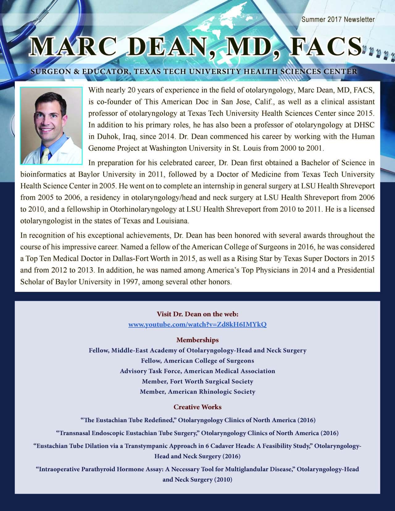 Dean, Marc 3650417_40004369 Newsletter