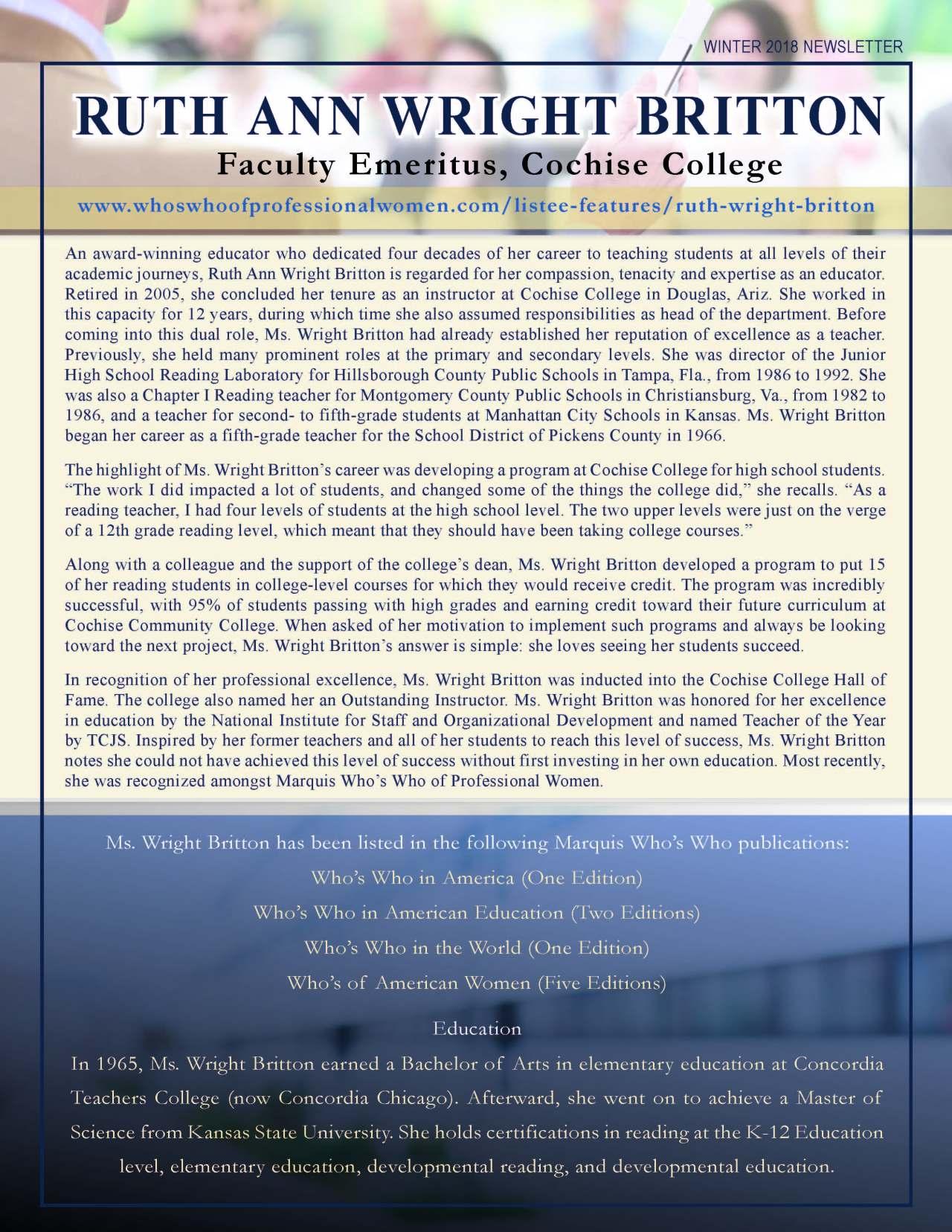 Wright Britton, Ruth 3693323_19671734 Newsletter