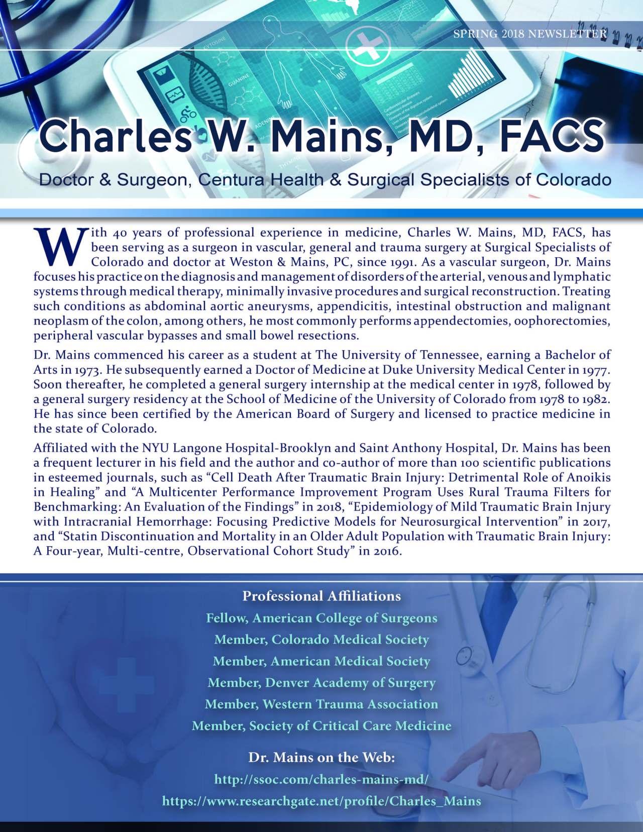 Mains, Charles 3703582_4003703582 Newsletter