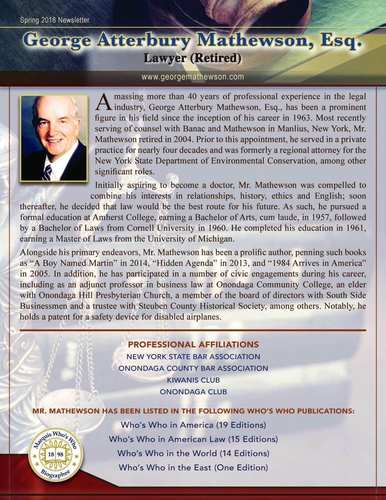 Mathewson, George 2256498_499369 Newsletter