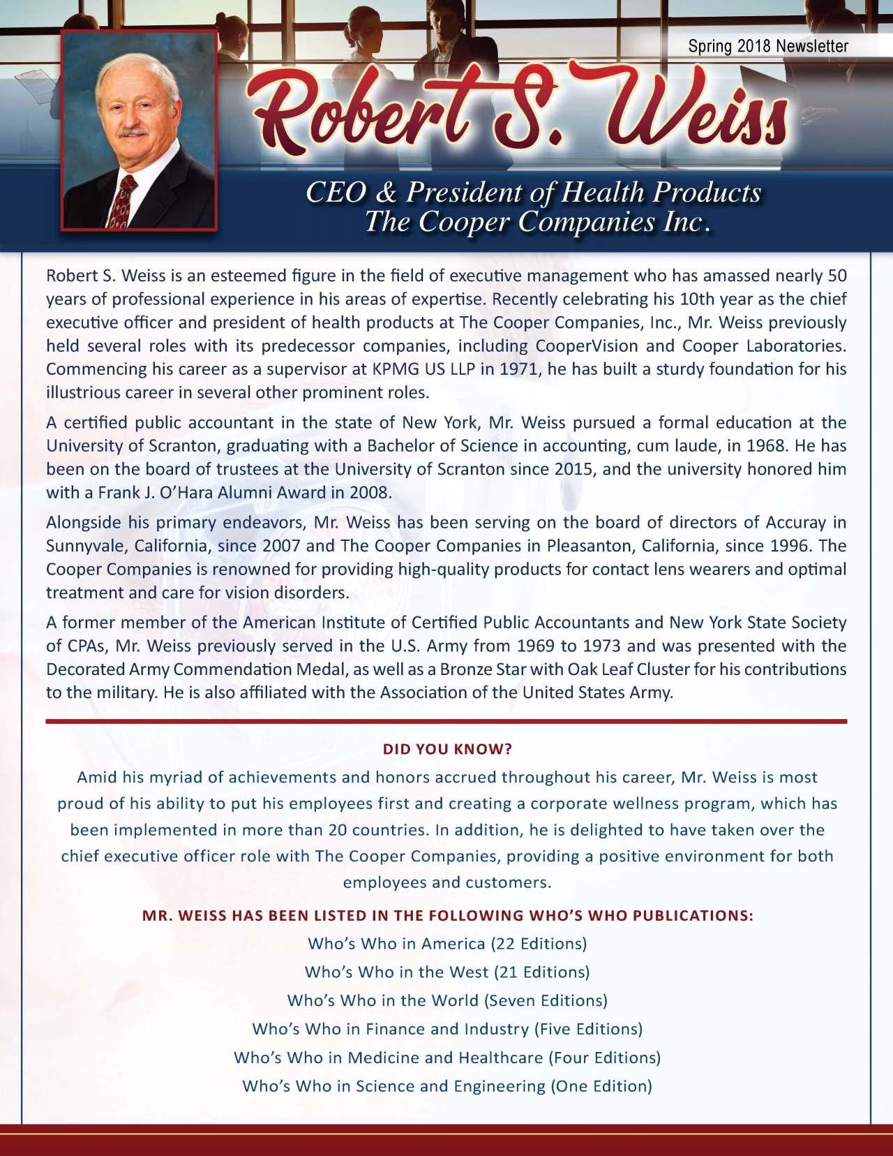 Weiss, Robert 2207529_178581 Newsletter