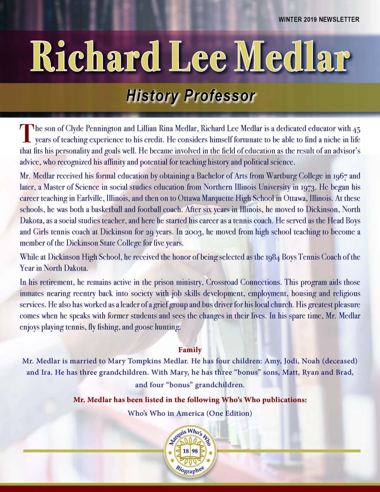 Medlar, Richard 3966848_35178033 Newsletter REVISED